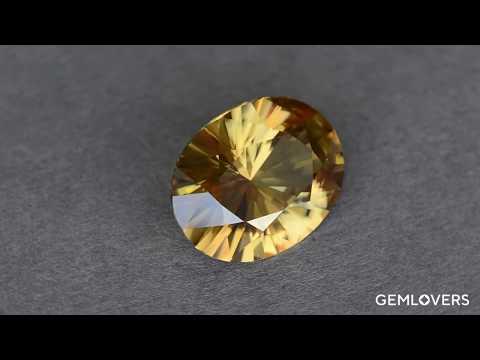 Уникальный желтый циркон из Танзании 20.93 Ct
