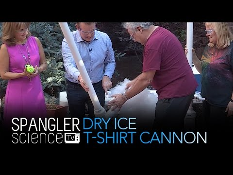 Dry Ice T-Shirt Cannon - Cool Science Experiment - YouTube