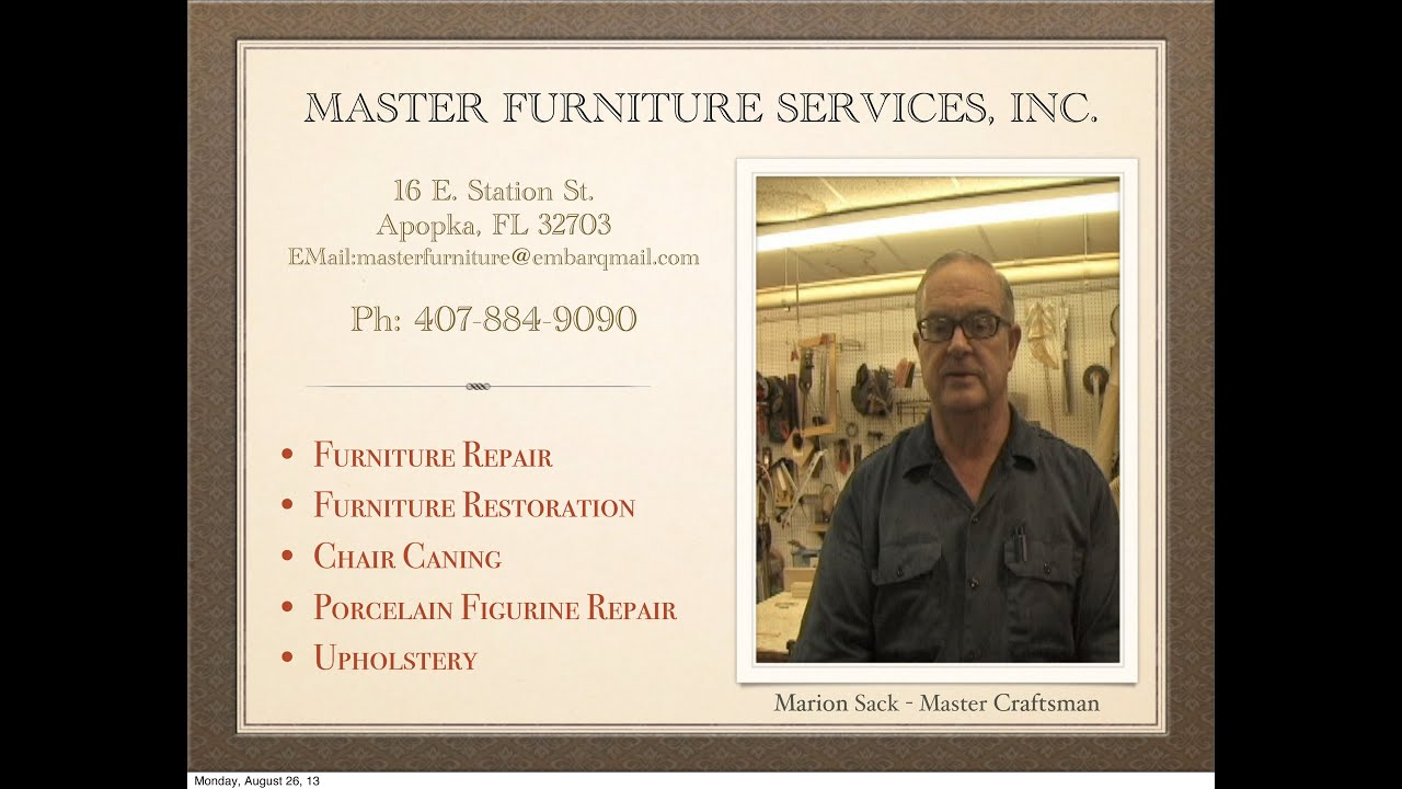 Marion Sack   Master Furniture Services, Inc.  Equipment And Capabilities