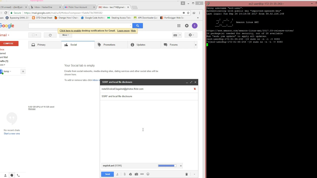 Flickr (Yahoo!) SSRF and Local File Disclosure