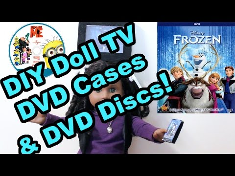 How To Make Mini Doll-sized TV & Remote, DVD Cases & Discs Tutorial | SummerStudiosAG
