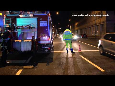 Verkehrskadetten Aachen Sondereinsatz Feuer Bahnhofstraße