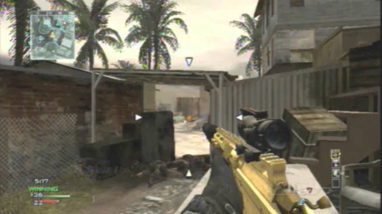 Call Of Duty Mw3 Wii Gold Msr Gameplay Village Kill Confirmed W Koruny Youtube