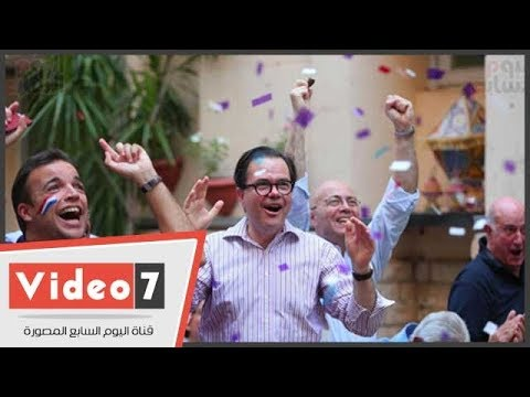 فرحة هيستيرية واحتفالات الجالية الفرنسية بالقاهرة بعد الفوز بكأس العالم  - نشر قبل 6 ساعة