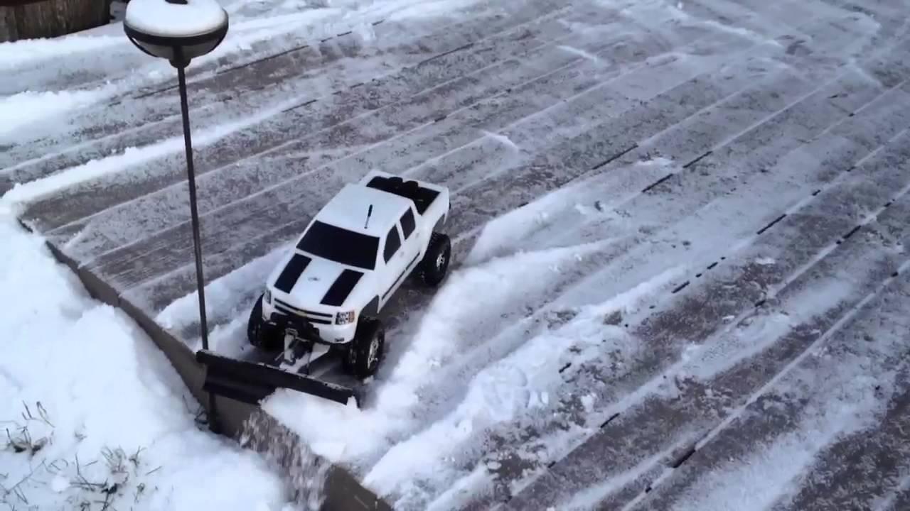 Rc Snow Plow Youtube
