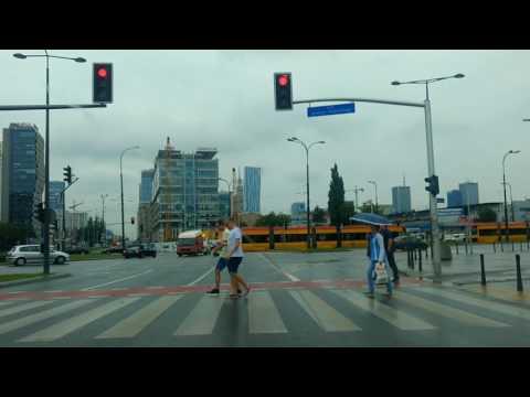 Driving in Warsaw downtown - centre / Conducir en el centro de Varsovia