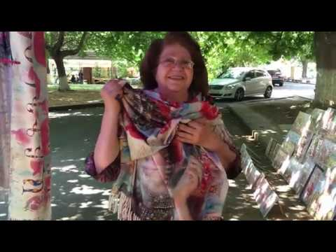 #Armenia #Armeniaintouch 05.07.2020 Yerevan Flea Market /vernisage/handmade Scarfs Nice Lady Part 2