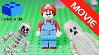 Lego Mario Halloween Funny Parody Movie - Lego Wario - Lego Ghost - Lego Skeleton - Lego Zombie