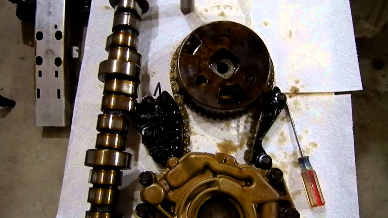 hight resolution of 5 7l hemi camshaft and lifter failure tips tricks timing chain look youtube