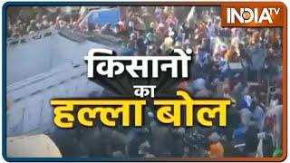 Kisan Rally: Singhu बॉर्डर पर पथराव के बाद झुकी पुलिस, किसानों को दिल्ली जाने की इजाजत