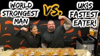 Uk's No1 Eater VS Worlds Strongest Man!