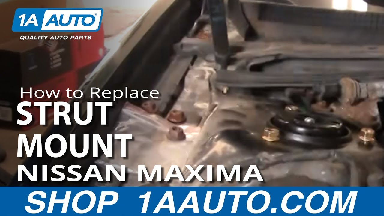 how to replace strut mount 2000 2008 nissan maxima [ 1280 x 720 Pixel ]