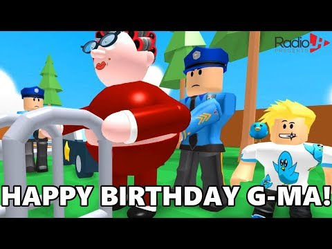 Granny Got Arrested On Her Birthday Roblox Obby Youtube