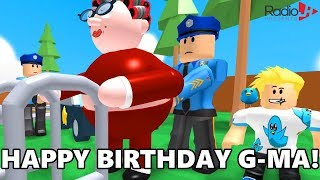 GRANNY Got ARRESTED On Her BIRTHDAY | Roblox Obby
