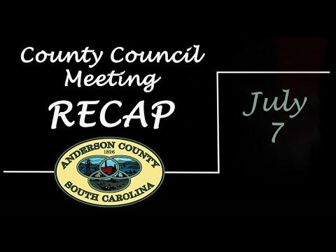 County Council Meeting Recap - July 7, 2020