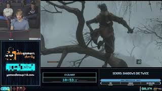 Sekiro: Shadows Die Twice by LilAggy in 26:20 - GDQx 2019