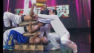 Stunt: Human pyramid   CCTV English