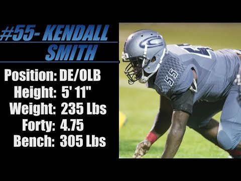 "2018- Street Light Recruiting- DE/OLB- Kendall Smith (5' 11""- 235) -Clay Chalkville High School (AL)"