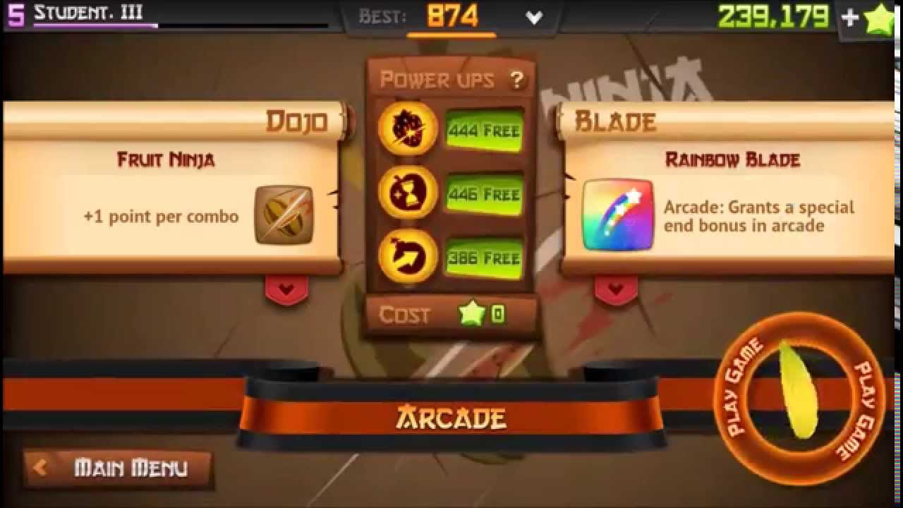 Fruit ninja blades fruit ninja 2 0 gameplay new blades dojos and