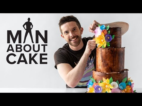 DIY Wedding Cake with Wafer Paper Flowers 🌼 Man About Cake with Joshua John Russell