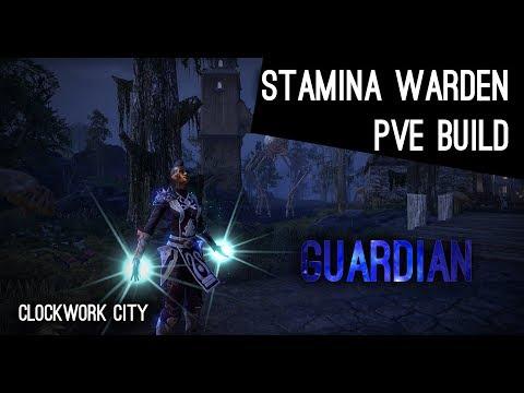 "Stamina Warden PvE Build ""Guardian"" - Clockwork City ESO"