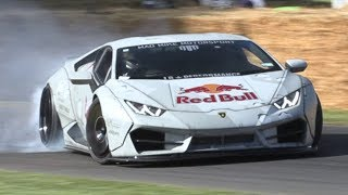 CRAZY Mad Mike's Lamborghini Huracan Drift Car! - KILLING Tires at Festival of Speed!