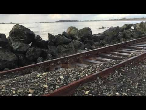 King Salmon Seawall Failure, Northwestern Pacific Railroad 2016