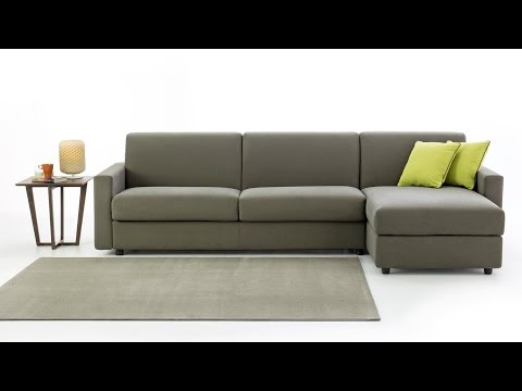 Colin sofa bed with storage chaise longue