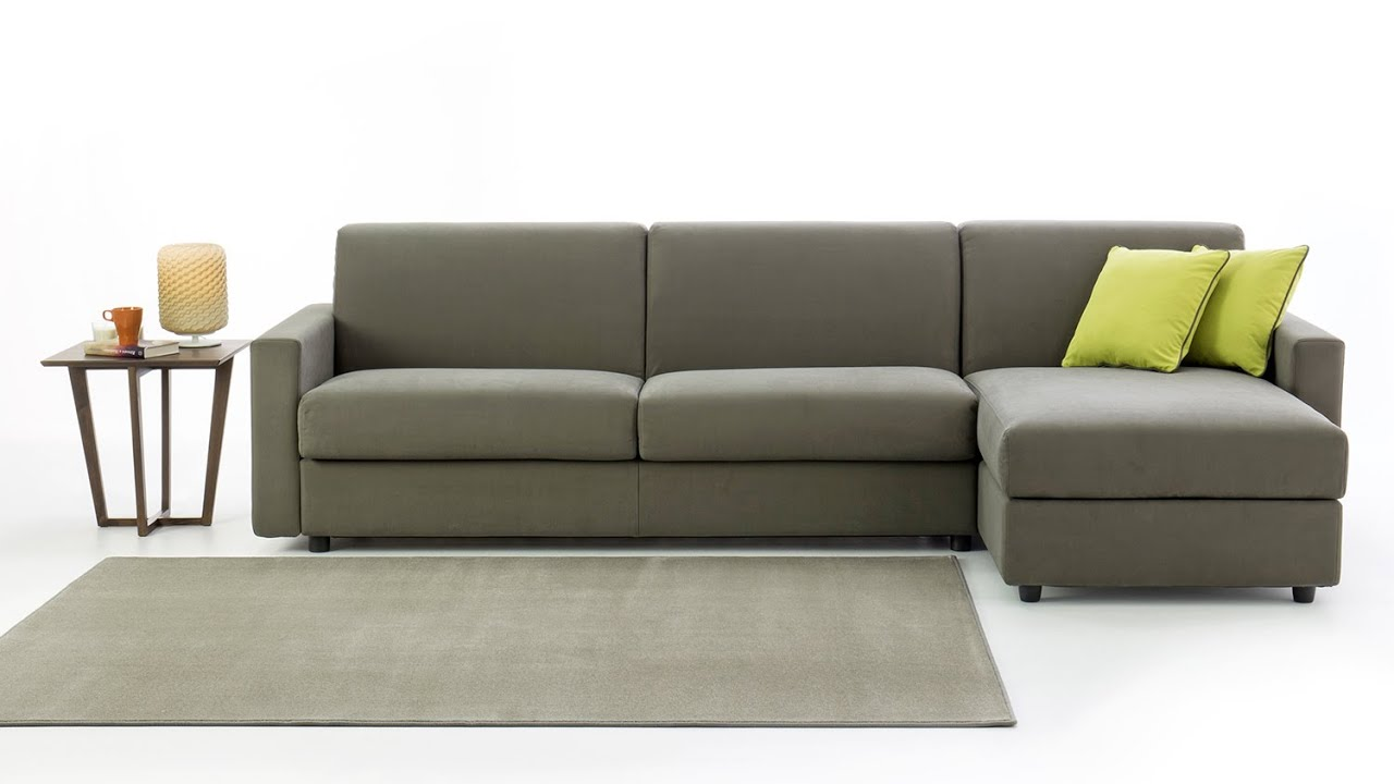 Sofa Bed With Storage Box Machine Washable Cotton Duck Slipcover Colin Chaise Longue Youtube