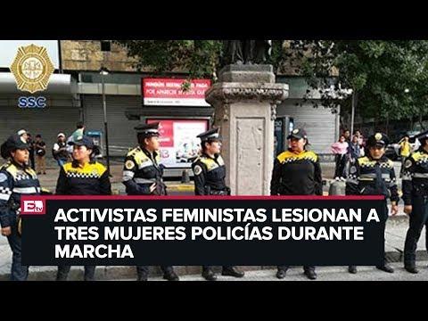 Realizan marcha feminista en la CDMX