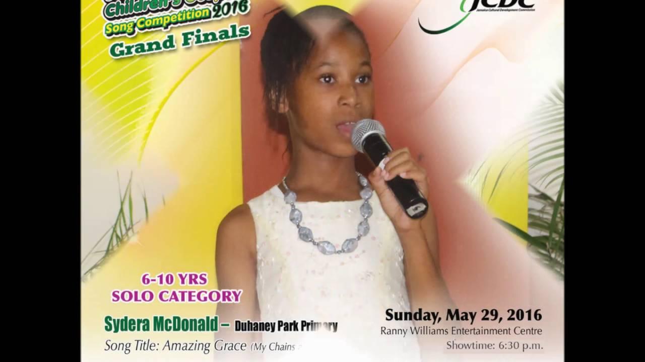 JCDC Jamaica Children's Gospel 6-10 Solo Finalists 2016