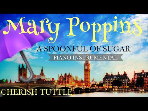 Free Download Disney's Mary Poppins - A Spoonful Of Sugar (piano Instrumental Karaoke Track) [lower Key  -2] Mp3 dan Mp4