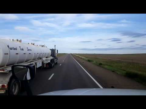 Bigrigtravels Live! Oakley to Dodge City, Kansas Interstate 70 and US283 August 25, 2016
