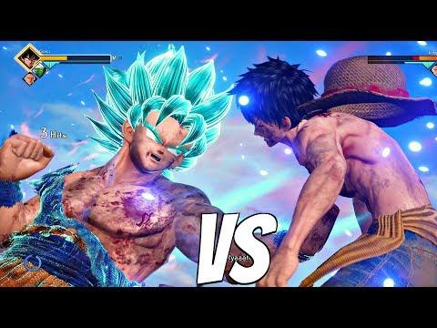 JUMP FORCE - Luffy vs Goku SSB Kaioken 1vs1 Gameplay (PS4 Pro)