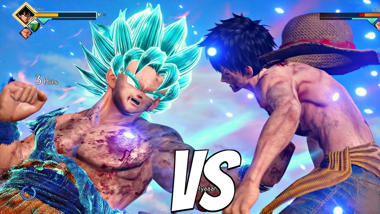 Natsu is the fastest easily. Jump Force Luffy Vs Goku Ssb Kaioken 1vs1 Gameplay Ps4 Pro Youtube