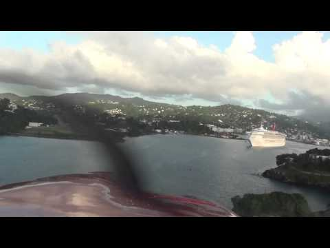 My landing to St.Lucia on a Piper PA-32 [HD]