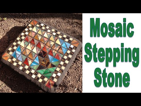 How To Create An Outdoor Stepping Stone Mosaic With No Days Adhesive