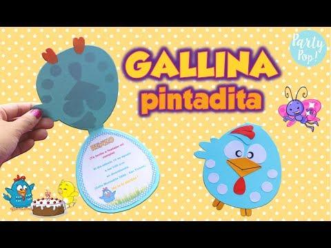Gallina Pintadita Invitación Gallina Pintadita Diy Party Pop