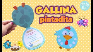 GALLINA PINTADITA - Invitación  Infantil + Moldes (DIY) | Party pop!🎉|