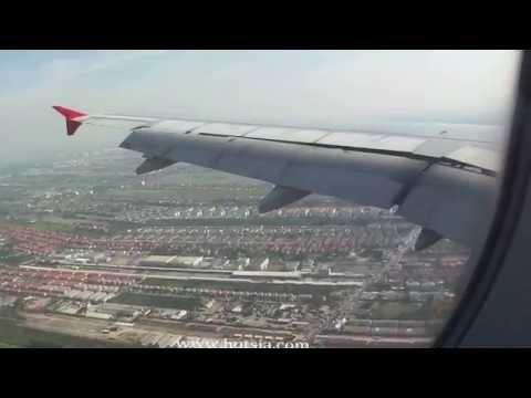 Asir asia Landing Donmuang เครื่องบินแอร์เอเชียลงจอดดอนเมือง