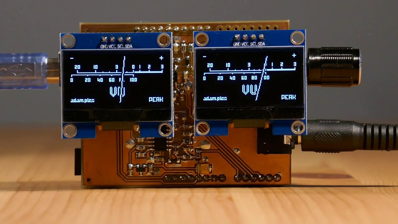 OLED VU meter Arduino shield — Just the Two of Us