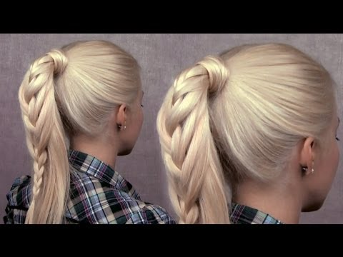 braided-ponytail-hairstyle---cute-everyday-french-braid-for-long-hair-spring-2013-trend