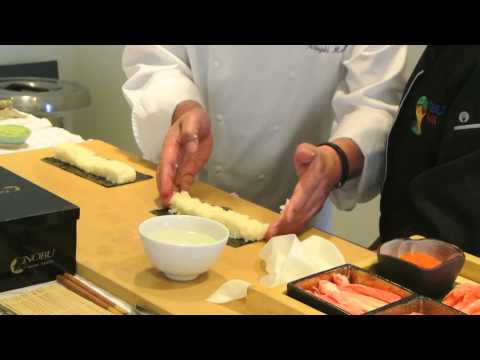 10 year old Maelin interview and demo with Nobu Matsuhisa
