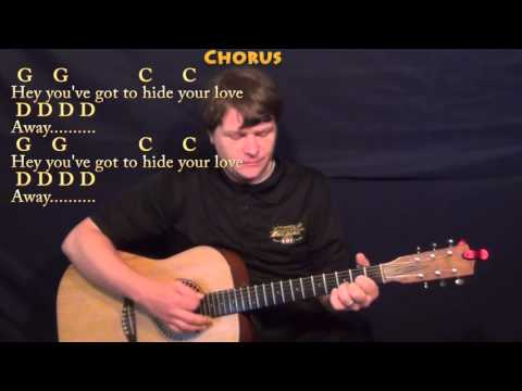 You've Got To Hide Your Love Away (Beatles) Guitar Cover Lesson with Chords/Lyrics