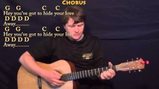 You've Got To Hide Your Love Away (The Beatles) Guitar Cover Lesson with Chords/Lyrics