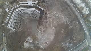 Снос хзб видео с дрона 10.11.2018