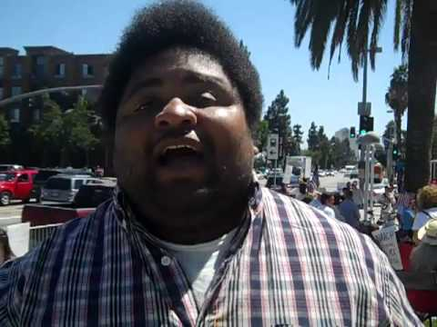 South Central L.A. Tea Party Protests The NAACP ( Illegal Immigration /  Aliens )
