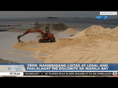 DENR, naninindigang ligtas at legal ang paglalagay ng dolomite sa Manila Bay