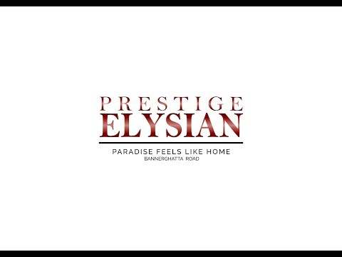 Prestige Elysian - Prestige Group | Elevation and Floor Plan | Call @ 9902830227