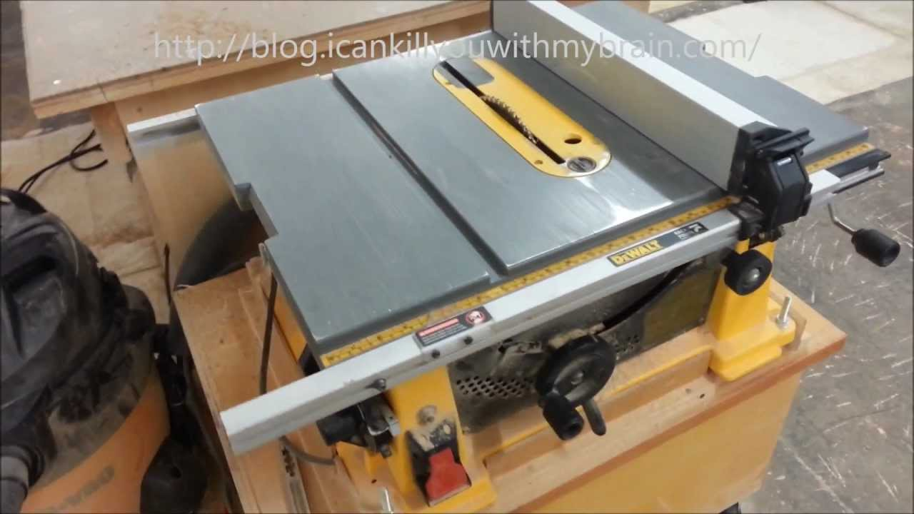 Dewalt dw744x 10 inch table saw one year later youtube greentooth
